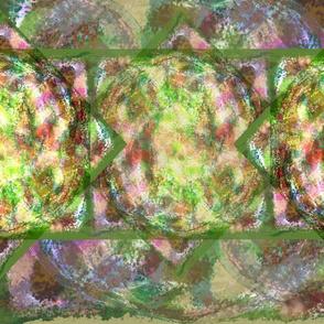 Abstract Art Green pinks Jumbo size k27