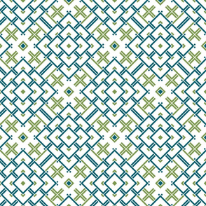 Geometric green_blue_white 044
