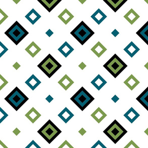 Geometric green_blue_white 068