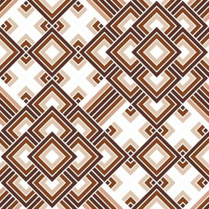 Geometric brown_white 048