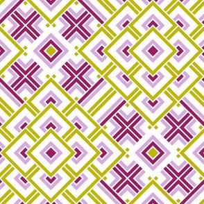 Geometric pink_purple_green_white 046