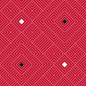 Geometric red_white 083