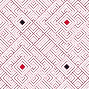 Geometric red_white 084