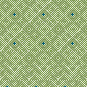 Geometric green_blue_white 064