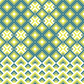 Geometric green_blue_yellow 066
