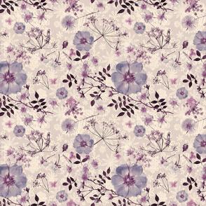 Antique Wild Rose lilac sepia tones