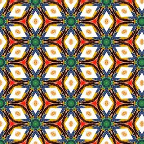 Jewel tones Watercolors Geometric Kaleidoscope Stars