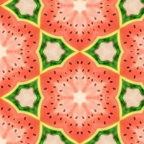 Geometric watermelon kaleidoscope