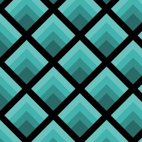 Three Inch Verdigris Abstract Gradient Flames