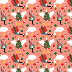 Christmas Goose Festive Holiday Pattern