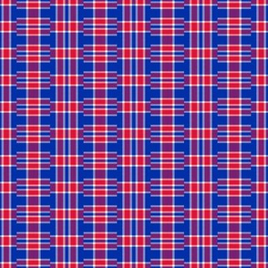 New York Rangers Hockey Stacked Plaid Team Colors Red White Blue