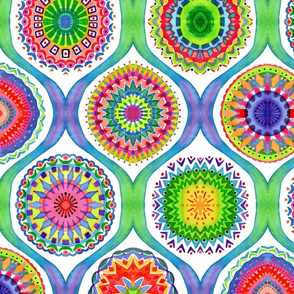 kaleidoscopic watercolor by lalalamonique