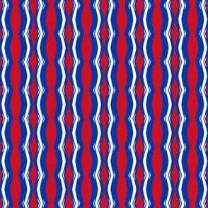 New York Rangers Hockey Wavy Stripes Team Colors Red White Blue