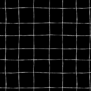 Casual Grid-white on black