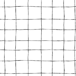 Casual grid-black line on white