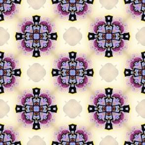 Medieval kaleidoscope crosses purple