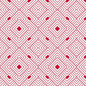 Handmade_Geometric red_white 075