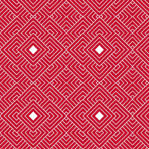 Handmade_Geometric red_white 076