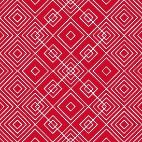 Handmade_Geometric red_white 072