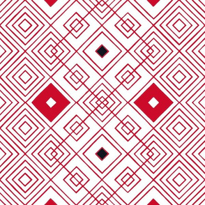 Handmade_Geometric red_black_white 074