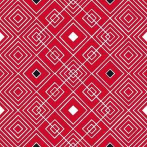 Handmade_Geometric red_black_white 073