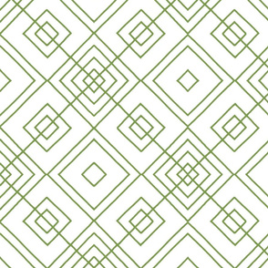 Handmade_Geometric green_white 078