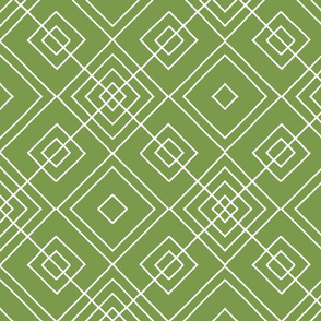 Handmade_Geometric green_white 077