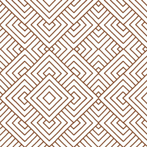 Handmade_Geometric brown_white 059