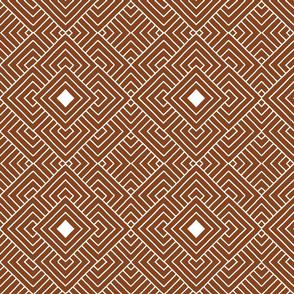 Handmade_Geometric brown_white 057
