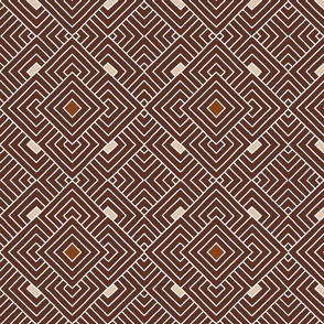 Handmade_Geometric brown_white 056