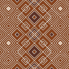 Handmade_Geometric brown_white 050