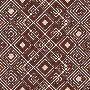 Handmade_Geometric brown_white 049