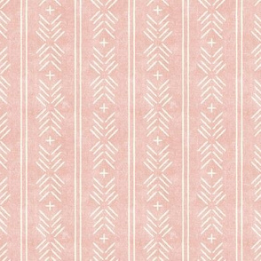 (small scale) mud cloth arrow stripes - pink - mudcloth tribal - LAD19BS