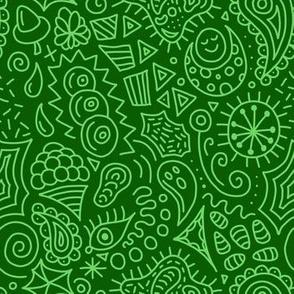 Random Doodles Green