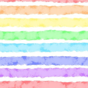 Rainbow Watercolor Stripes