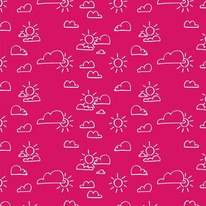 Clouds Sun Pink