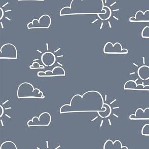 Clouds Sun Ash