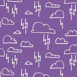 Clouds Lightning Purple