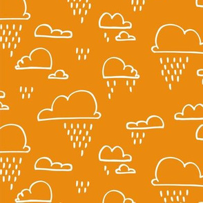 Clouds Rain Orange