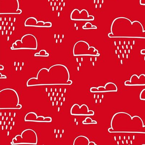 Clouds Rain Red