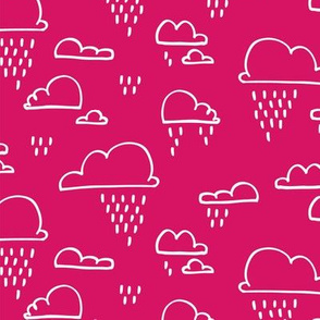 Clouds Rain Pink