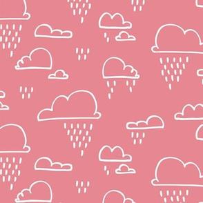 Clouds Rain Pastel Pink