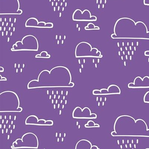 Clouds Rain Purple