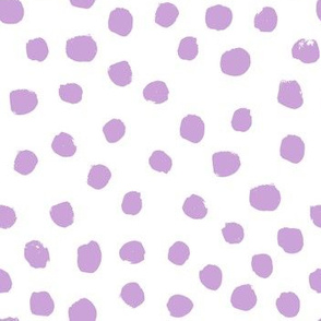 nursery dots fabric - dots painted dot spots painterly abstract nursery baby lavender