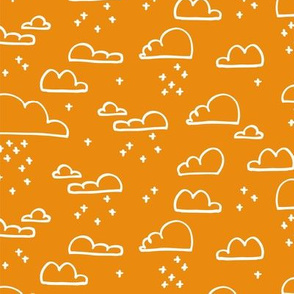 Clouds Snow Orange