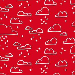 Clouds Snow Red