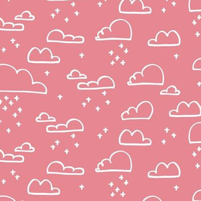Clouds Snow Pastel Pink