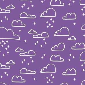 Clouds Snow Purple