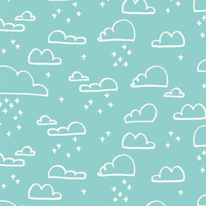 Clouds Snow Pale Blue