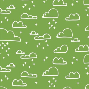 Clouds Snow Green